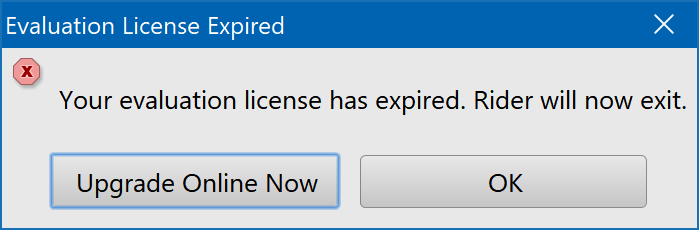 Your evaluation license has expired